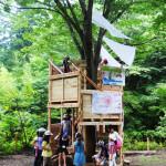 子ども達と作るツリーハウス